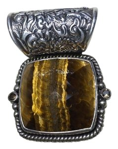 Lori Bonn Lori Bonn Sterling Silver and Tiger's Eye Pendant Enhancer