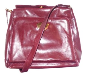 Gucci Extra Large Size Or Tote Multi-compartment Appears Unused 60's Mod Early Satchel in ox blood/ burgundy
