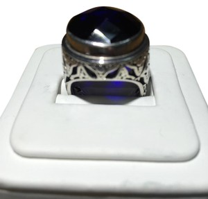 Lori Bonn Lori Bonn Sterling Silver and Sapphire Blue Statement Ring