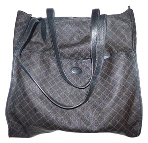 Bally Tote Or Satchel in Brown & Black Bally logo print