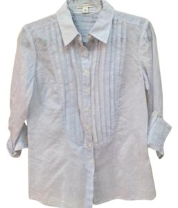 Banana Republic Button Down Shirt Blue and White