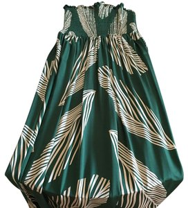 Green/Tan Maxi Dress by BCBGMAXAZRIA