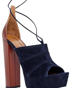 Aquazzura Navy Platforms