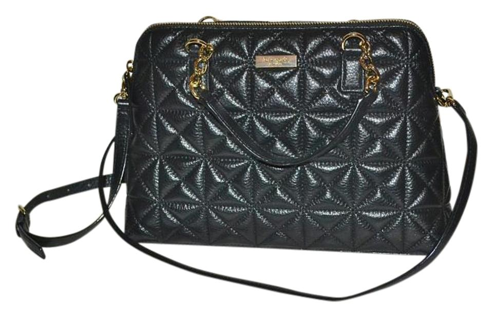 285961b737 Kate Spade Handbag Quilted Leather Small Rachelle Whitaker Place Satchel in  Black Image 0 ...