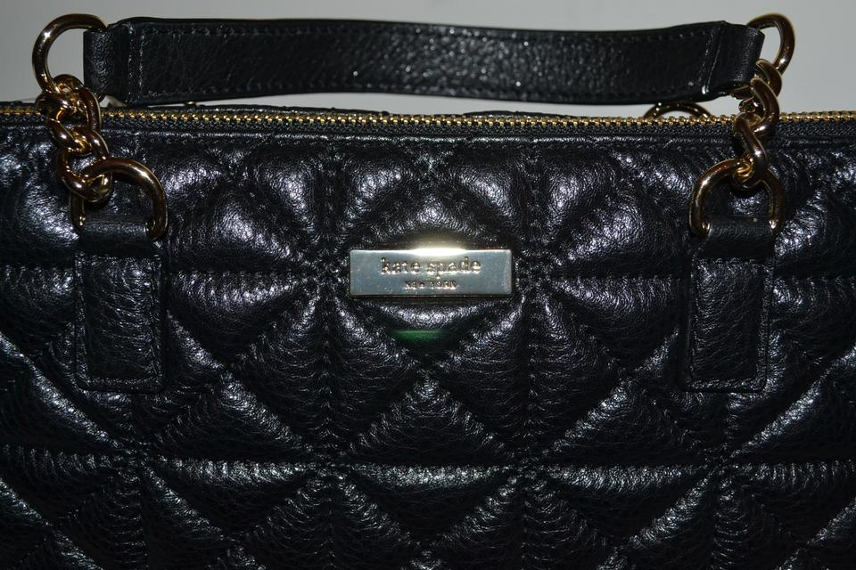 Kate Spade Black Quilted Leather Whitaker Place S Rachelle ... : quilted leather material - Adamdwight.com