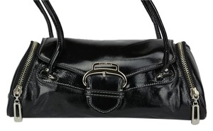 Cole Haan Leather Tiffany Coach Speedy Satchel in Black