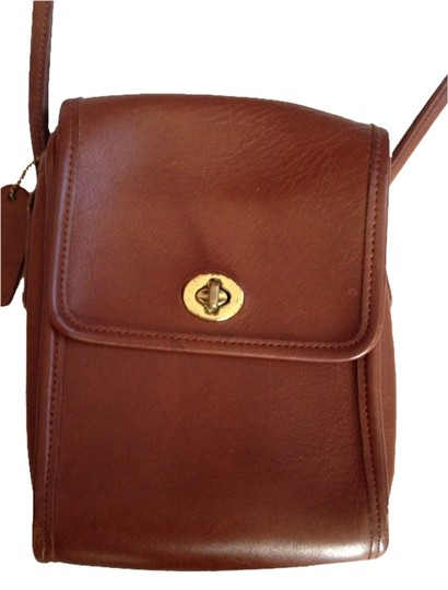 Coach Leather Small Brown Cross Body Bag
