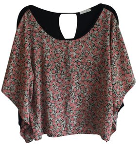 Lush Roses Floral Drapey Top Pink