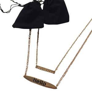 Other Hello necklace bundle