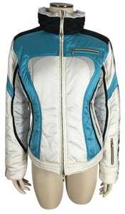 MDC Doris Pfister Ski Snow Hide-away Hood White Jacket