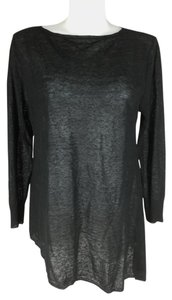 Diane Gilman 100% Linen Asymmetrical Shear Sweater