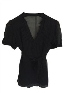 BCBGMAXAZRIA Silk Top Black