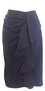Fendi Draped Ruffle Skirt Navy