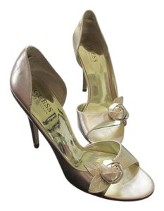 Guess Flower Wedding Stilettos Heels Gold Formal