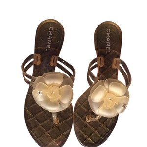 Chanel Yellow Sandals