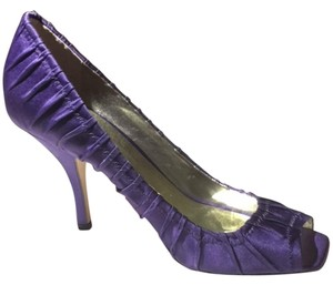 Guess By Marciano Open Toe Purple Satin Formal