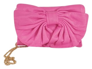 RED Valentino Bow Lambskin Pink Clutch