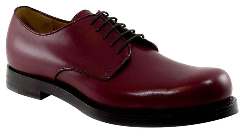 30eba9e601774 Gucci Bordeaux 353021 Men s Leather Lace-up Formal Shoes. Size  US 12 ...