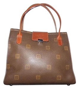 Texier of France Made In Logo Design Mint Vintage Great Everyday Shades Brown Shoulder Bag