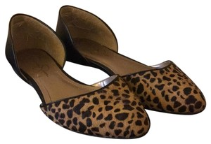 Jessica Simpson Black and leopard Flats