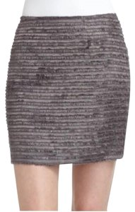 Alice + Olivia Mini Skirt Silver/gray
