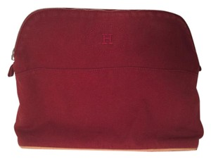 Hermès Hermes Bolide Gm Toiletry Red Clutch