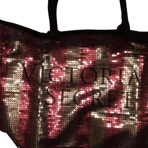 Victoria's Secret Tote in Pink Silver Black