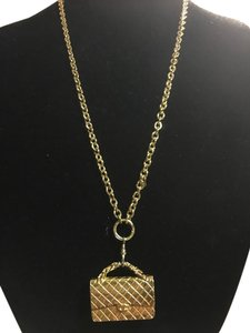 Chanel Authentic Chanel 3D Pendant Stamped Flap Bag Charmed Necklace Rare