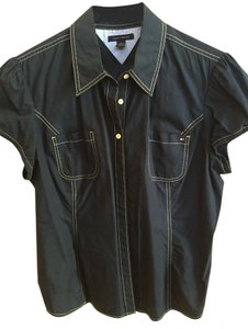 Tommy Hilfiger Button Down Shirt Navy Blue