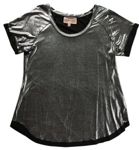 Other Slinky Sparkly T Shirt Silver