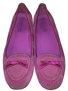 Coach Orchid/Pink Suede Flats