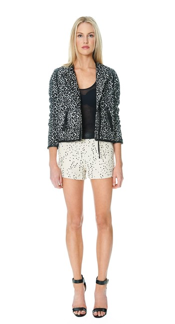 Dolce Vita Black White Gray Grey Leopard Jacket
