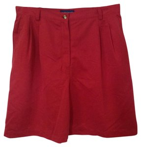 Karen Scott Bermuda Shorts Red