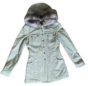 Blanc Noir Faux-fur Lined Hooded Coat