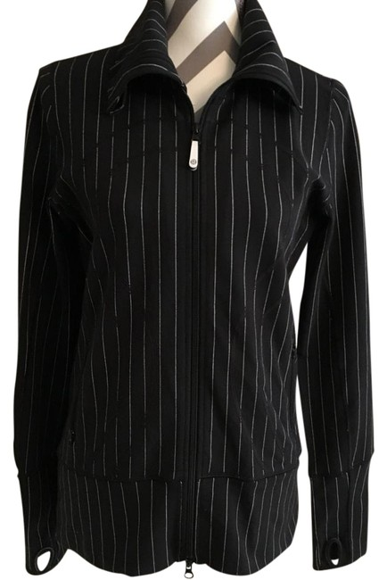 Item - Black with White Pin Stripe Activewear Outerwear Size 8 (M, 29, 30)