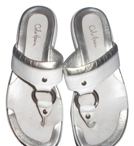 Cole Haan Leather White/silver Sandals