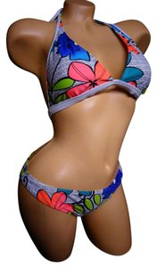 Body Glove Body Glove hot pink flower hawaiian print pyschadellic
