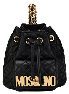 Moschino Monogram Leather Quilted Backpack