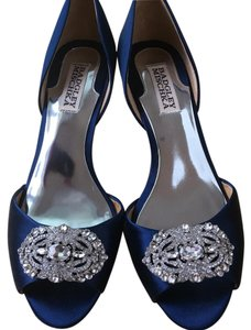 Badgley Mischka Bride Blue Pumps