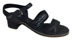 Chanel Navy Blue Sandals