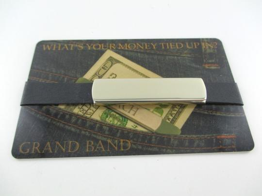 THE GRAND BAND THE GRAND BAND MONEY CLIP GB7000/CH STAINLESS STEEL CHAMPAGNE GOLD COLOR RUBBERS