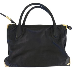 Foley + Corinna Leather + And Satchel in Black