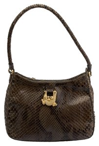 Barry Kieselstein-Cord Python Kieselstein Cord Shoulder Bag