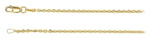 LoveBrightJewelry 1.75mm Diamond Cut 14K Yellow Gold Cable Chain Necklace -20