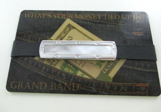 THE GRAND BAND THE GRAND BAND MONEY CLIP GB7000 SA/MOBG MOTHER OF PEARL STAINLESS STEEL LUXURY