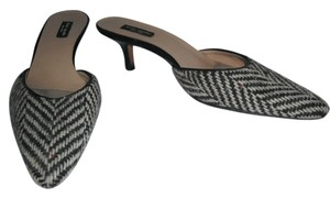 Kate Spade Wool Tweed Slides Black & White Mules
