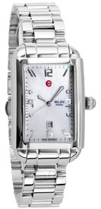 Michele NWT Michele Milou Park Stainless MOP Dial Watch MWW15C000044