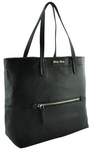 Miu Miu Designer Tote in Black