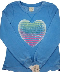Self Esteem Self Esteem Blue Pullover Top - Size Junior Medium