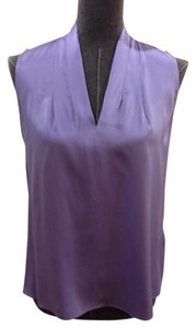 Elie Tahari High/low Silk Top Lavender